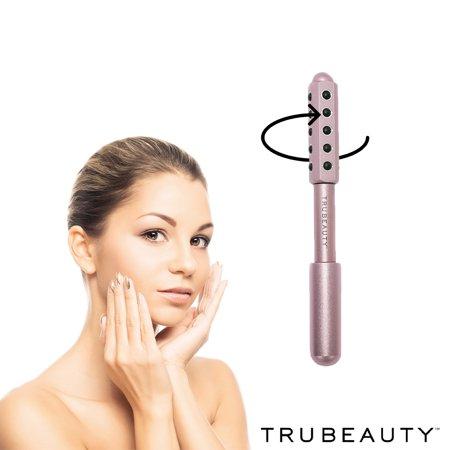 Tru Beauty Derma Roller, Revitalizing Massager, Safe for All Skin Types, Spa Quality Design - Pink