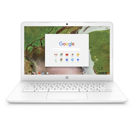 HP Chromebook 14, 14u0022 Full HD Display, Intel Celeron N3350, Intel HD Graphics 500, 32GB eMMC, 4GB SDRAM, B&O Play Audio, Snow White, 14-ca051wm