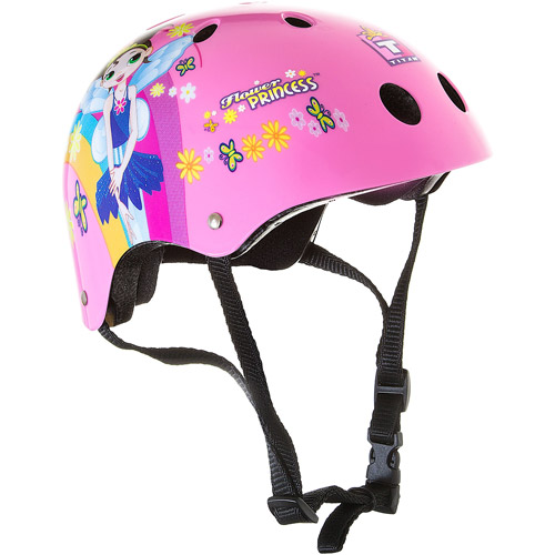 Titan Flower Princess 11-vent Girls Pink Skate and Bike Helmet, Size Small