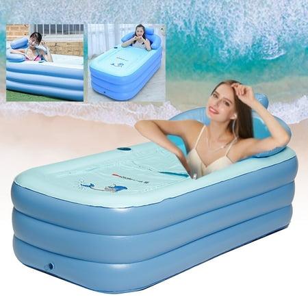 160x84x64cm Inflatable Bath Tub Adult Portable Folding SPA Warm Bathtub Blow Up travel bath PCV Bathtu](Blow Up Tub)