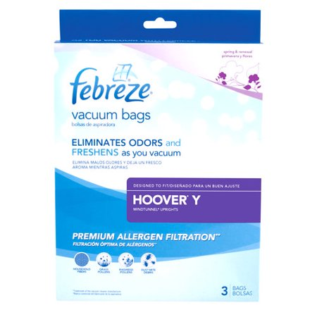 Hoover Febreze Vacuum Bags Style Y 3 Pk 22v8