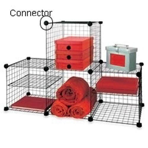 Plastic Connectors for Wire Shelving Unit- Set of 12 (Black ...