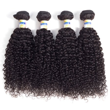 YYONG Brazilian Kinky Curly YYONG Hair Products 4 Bundles Brazilian Unprocessed Virgin Hair Bundles 8-30 Inch , (Best Products For Virgin Brazilian Hair)