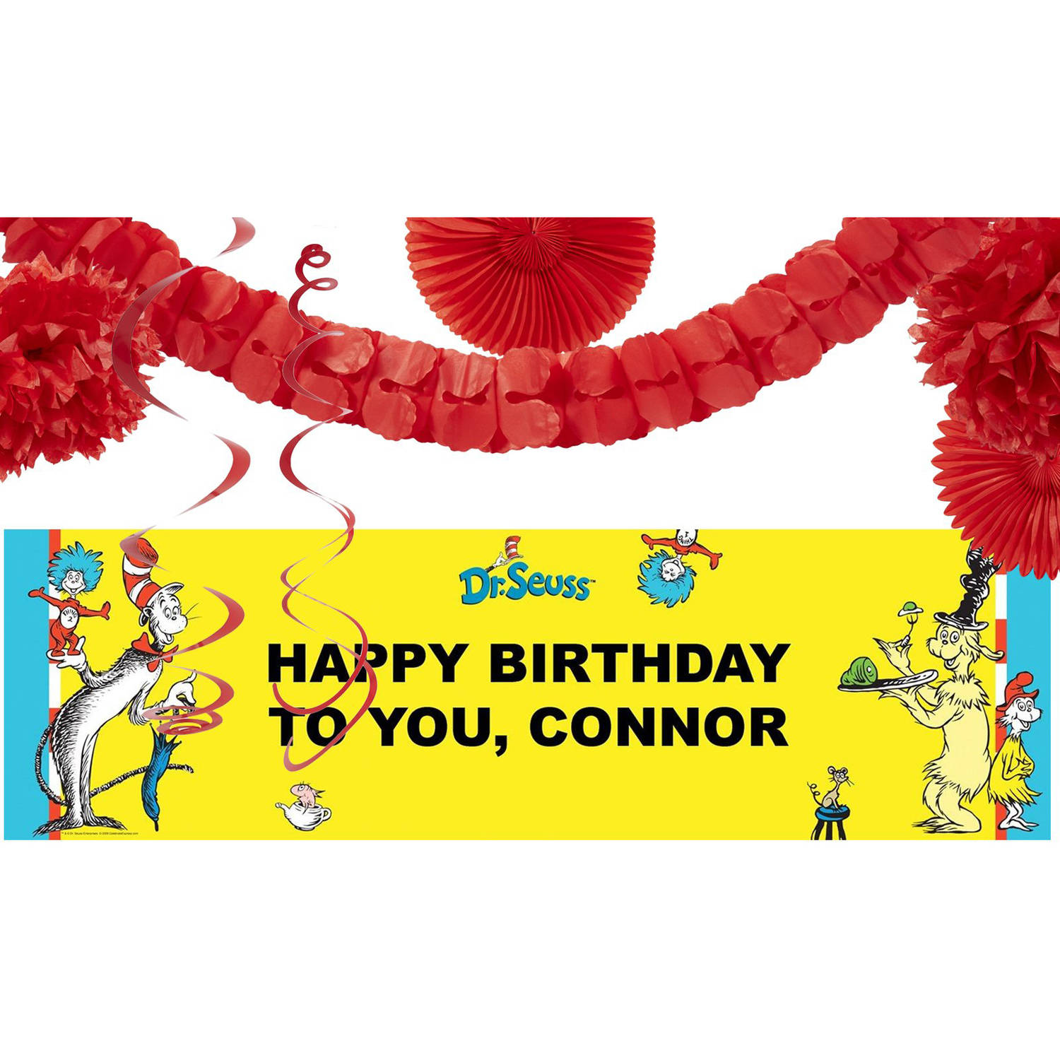 Dr. Seuss Party Banner Decoration Kit