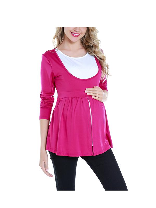 Womens Maternity Tank Tops T-Shirts Multifunctional Breastfeeding Nursing Top
