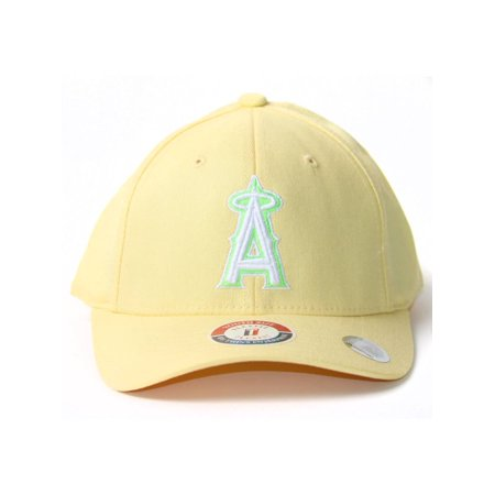 Light Yellow Youth Size Flex Fit Hat - Anaheim Angels - image 2 de 2