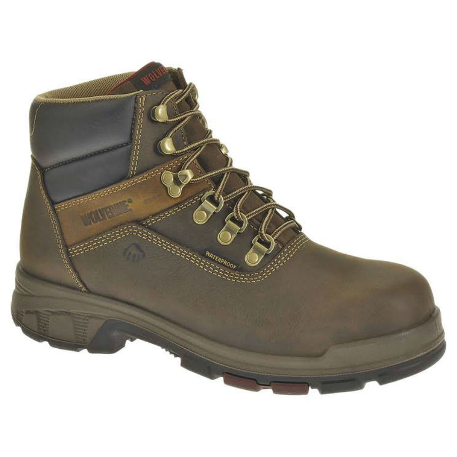 Wolverine Worldwide W10315 09.0M Cabor Waterproof Work Boots, Medium Width, Brown Nubuck Leather, Men's Size 9