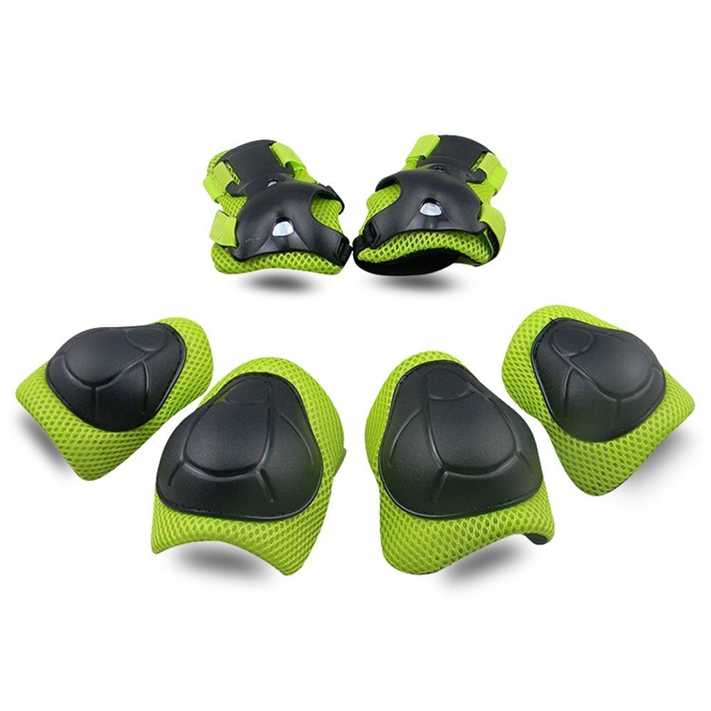KDG Kids Protective Gear Knee Pads for Kids Protective Gear Set Knee and Elbow Pads with Wrist Guards 6 in 1 for Skating Cycling Bike Rollerblading Scooter Skateboard Inline Scooter Riding Sports
