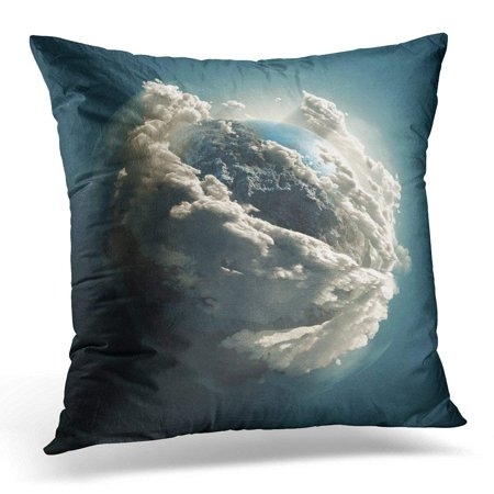 - USART Blue Atmosphere Earth Day Clouds Planet in Space Video Available 12661208 Globe Throw Pillow Case Pillow Cover Sofa Home Decor 16x16 Inches
