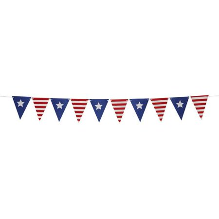 KABOER 1 Pcs American Independence Day Bunting Banner 4th of July Decorations  Indoor Outdoor Decoration USA Letter](Usa Decorations)
