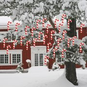 Christmas Lawn Decorations - Hanging Candy Canes