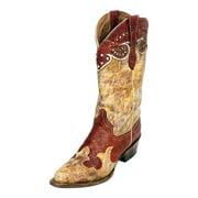 Ferrini Western Boots Womens Sweetheart Snip Cowboy Red Tan 94361-22