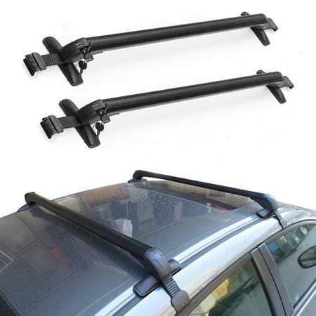Aluminum Car Top Luggage Roof Rack Cross Bar Carrier Adjustable Window Frame