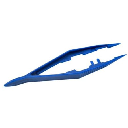 Disposable Blue Plastic Forcep Tweezers (100 Count) - -
