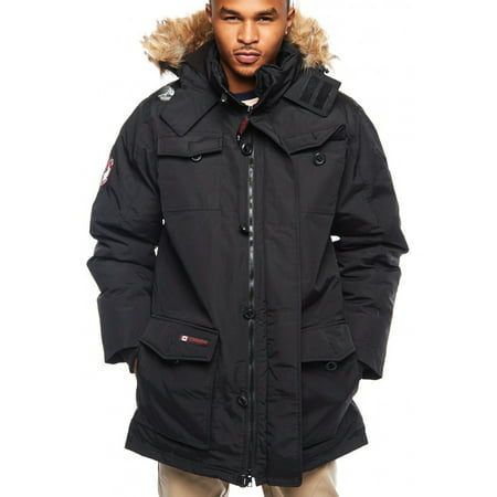 Triple Goose Weather Gear Faux Goose Down Parka Ski Jacket Black (Black Down Parka)