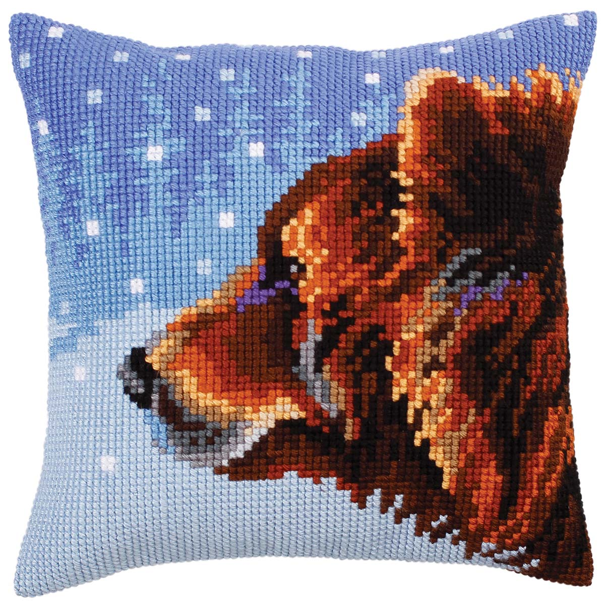 Collection D'Art Winter Animal Pillow Cover Needlepoint Kit