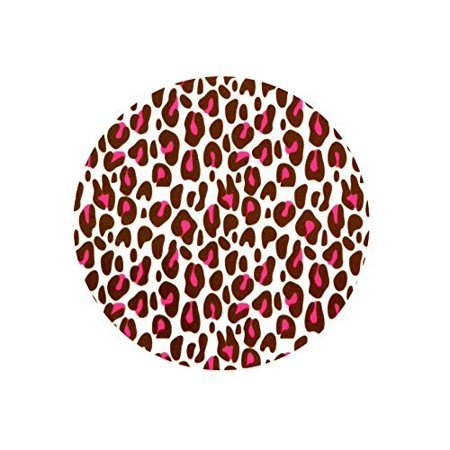 2 Round ~ Pink Cheetah Background ~ Edible Cake/Cupcake Topper!!! (Cheetah Cake Inside)
