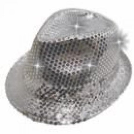 Supreme Light Up Flashing Sequin Fedora Party LED Hat 7204c042071