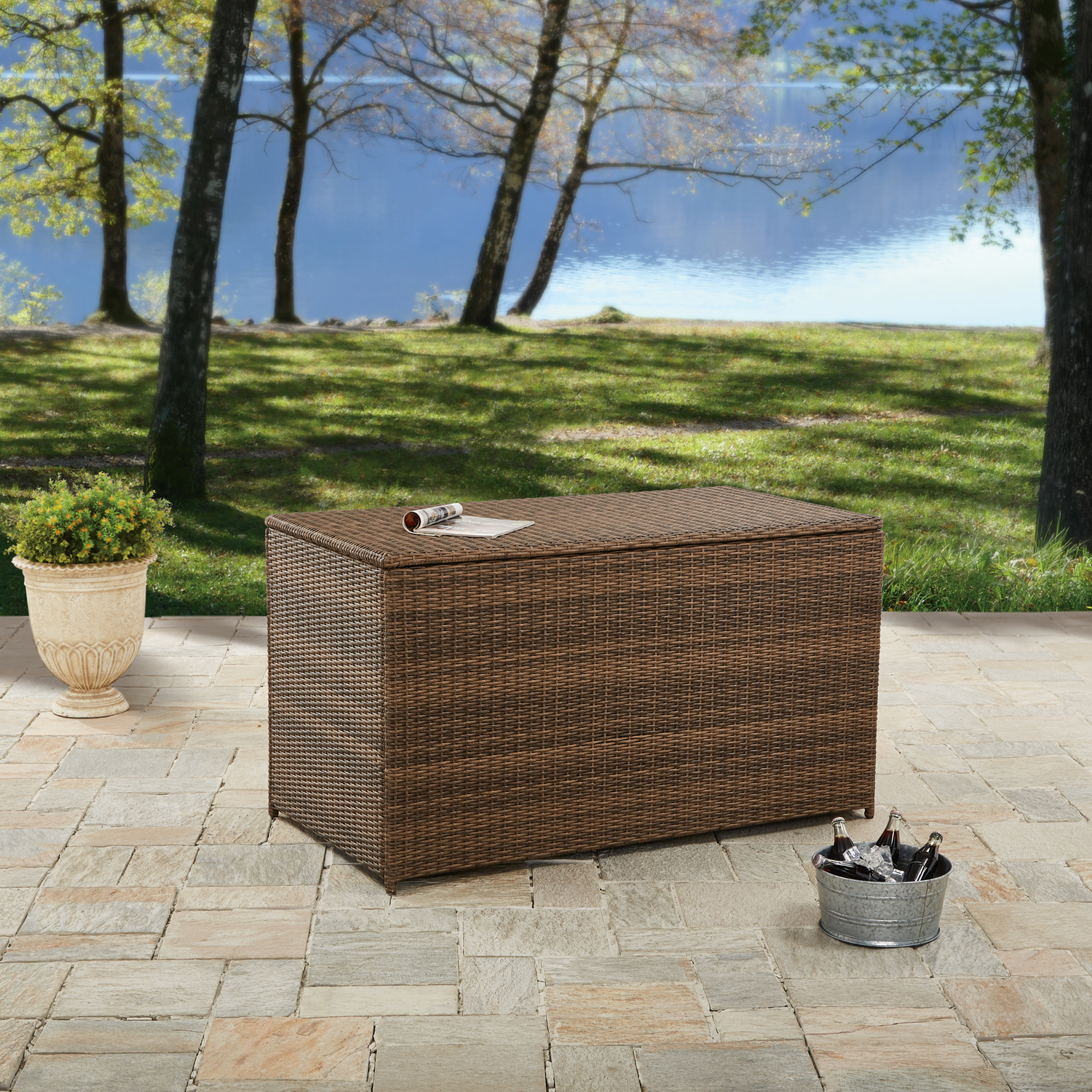 Better Homes and Gardens Camrose Farmhouse Outdoor Deck Box