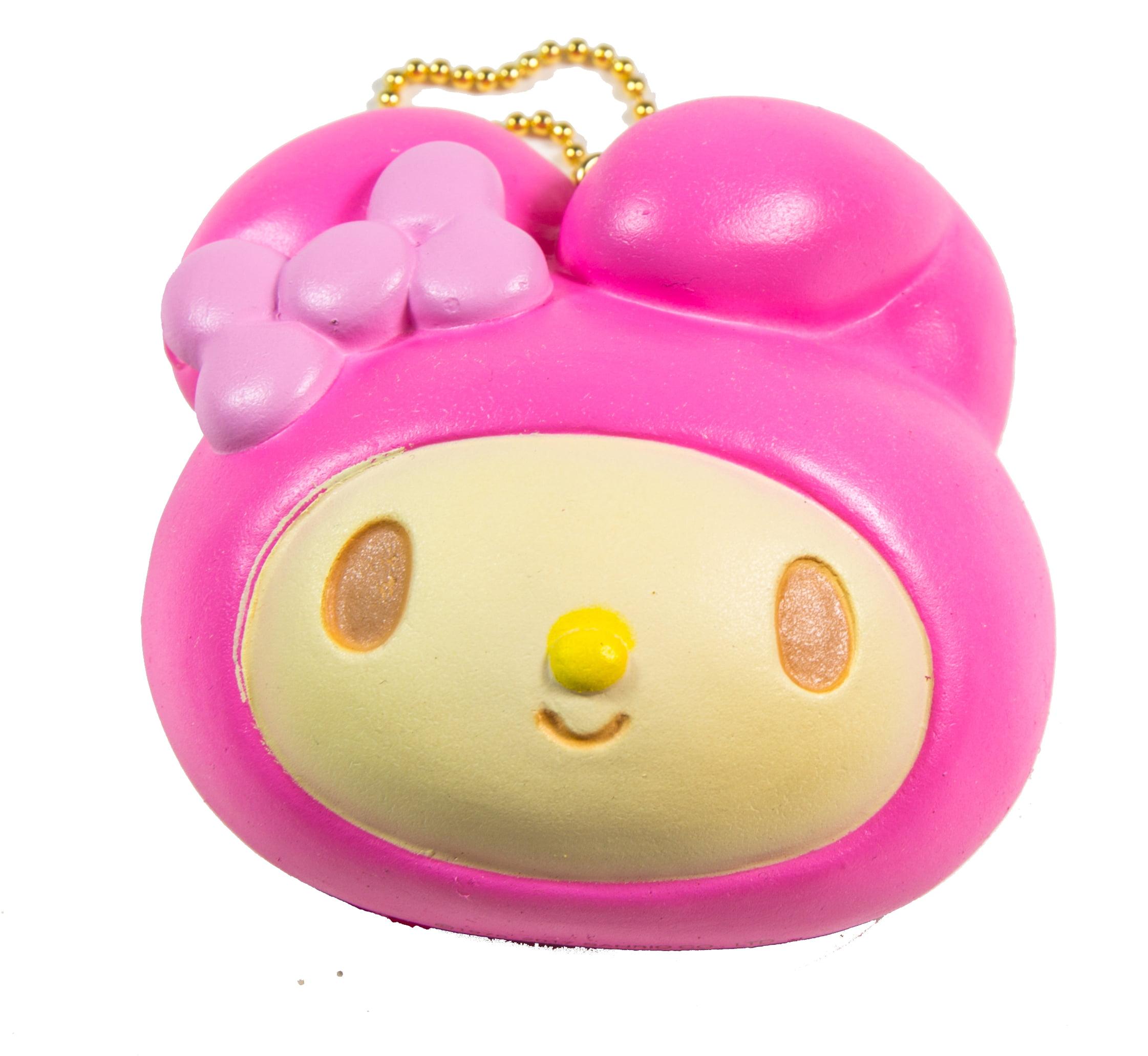 Sanrio Licensed Melon Colored My Melody Head Bun Squishy by NIC