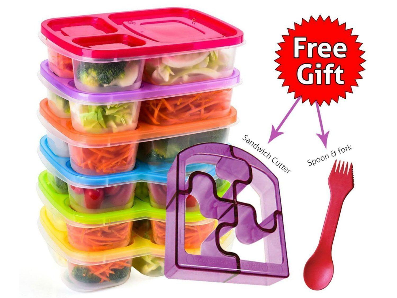 Kids Lunchbox w Cutlery Sandwich Box School Nursery Travelling Girls Boys 3+y