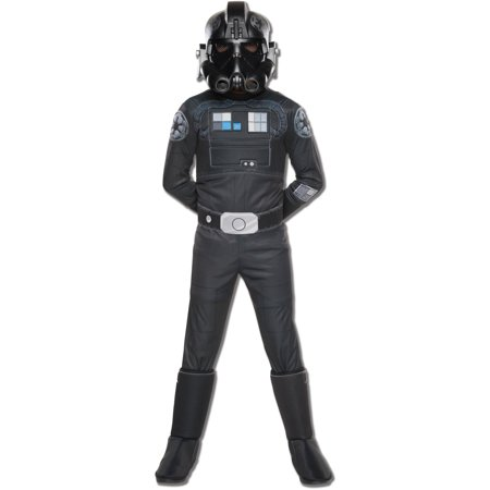 Star Wars Rebels Deluxe TIE Fighter Pilot Child Halloween Costume (Halloween Costume Pilot)