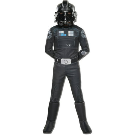 Star Wars Rebels Deluxe TIE Fighter Pilot Child Halloween Costume](Star Wars Rebel Pilot Costume)