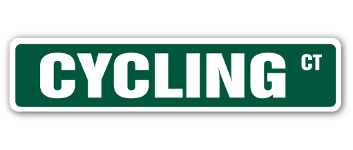 """CYCLING Street Sign Childrens Name Room Sign 