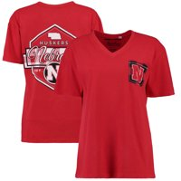 Nebraska Cornhuskers Pressbox Women's Buffalo Plaid Printed Pocket T-Shirt - Scarlet