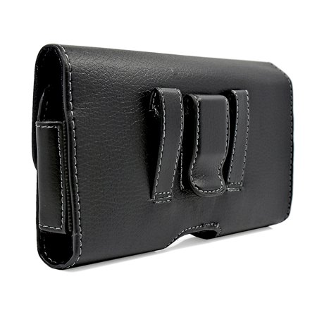 Leather Belt Clip & Loop Pouch Case Holster Compatible with BLU Grand X Devices - (Pouch Dimension: 5.75 x 3.15 x 0.75 inch) - image 5 of 9