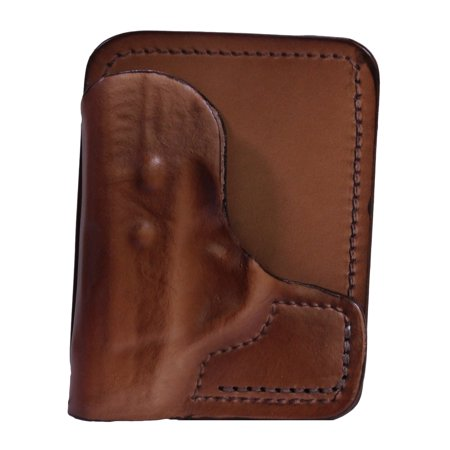 Frontline Back Pocket Leather Holster Taurus TCP, Brown, Right Hand ...