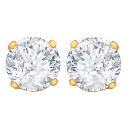 1/4 Carat Diamond Stud Earrings (I1 SI2 Clarity, HI Color) 14kt Yellow Gold