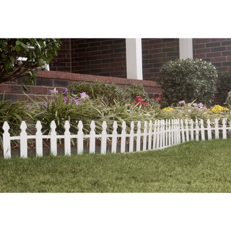 Wood Picket Fence White