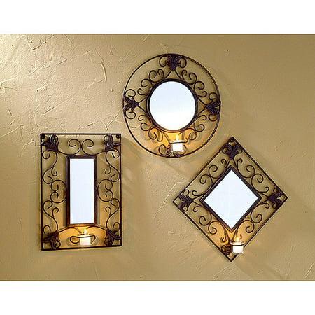 Three Piece Votive Mirror Set Walmart Com