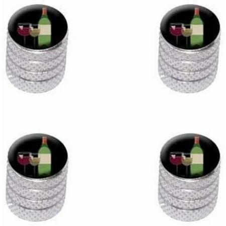 Merlot White Zinfandel Wine - Wine Vino White Red Zinfandel Merlot Cabernet Sauvignon Pinot Chardonnay Tire Rim Wheel Aluminum Valve Stem Caps, Multiple Colors
