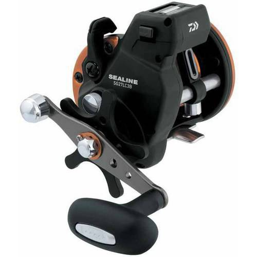 Daiwa Sealine SG-3B 4.2:1 Line Counter Conventional Reel, Left Hand, Power Handle - SG27LC3BL Daiwa Line Counter Reels