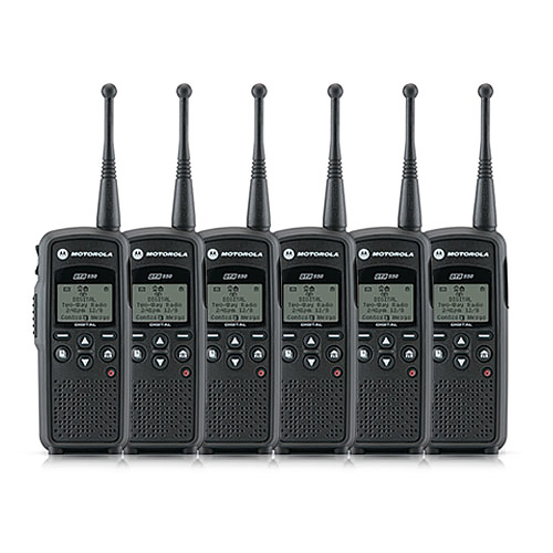 Motorola DTR550 6 Pack Portable Digital Radio by MOTOROLA