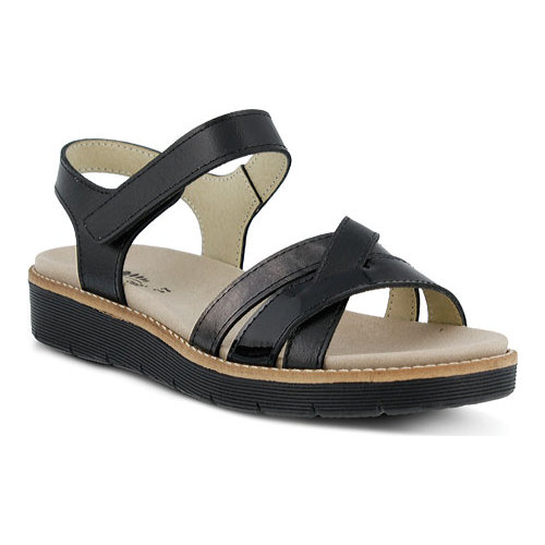 Women's Spring Step Elzira Quarter Strap Sandal Black Leather 36 M - image 7 de 7