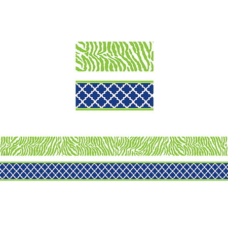 WILD MOROCCAN NAVY & LIME DOUBLE SIDED BORDER