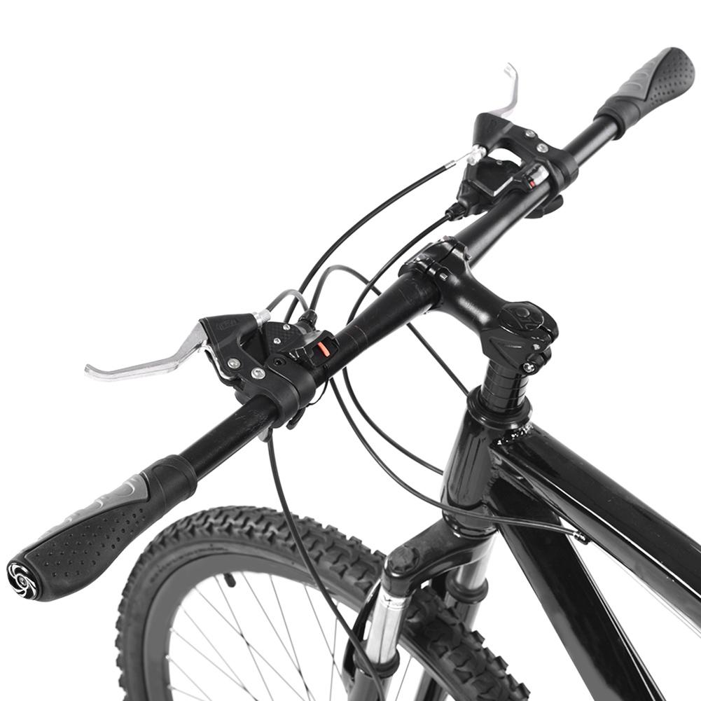 A Pair Black Cycling Grips Bike Handbar Grip Mountain Bicycle Handlebar Bar End