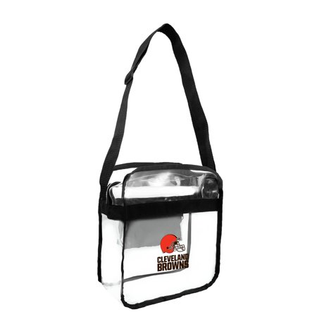 Little Earth - NFL Clear Carryall Cross Body Bag, Cleveland (Cleveland Browns Nfl Bean Bag)