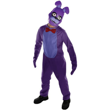 Five Nights at Freddys: Bonnie Child Costume (5 Night At Freddy's 4 Halloween)