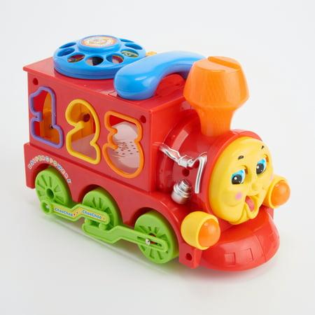 Huile Musical Learning Toy Train électrique Bump et Go Train avec blocs, lumières, sons pour bébé