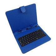 "7"" Micro USB Keyboard Folio- Blue"
