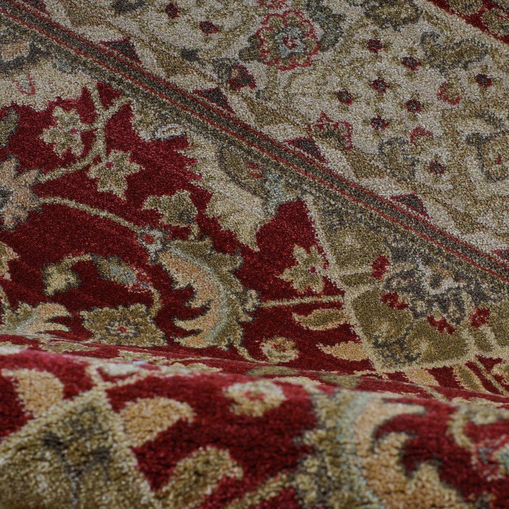 "Ladole Rugs Traditional Persian Design Runner Area Rug Carpet Cream Red(2'7"" x 9'10"", 80cm x 300cm) - image 1 of 4"
