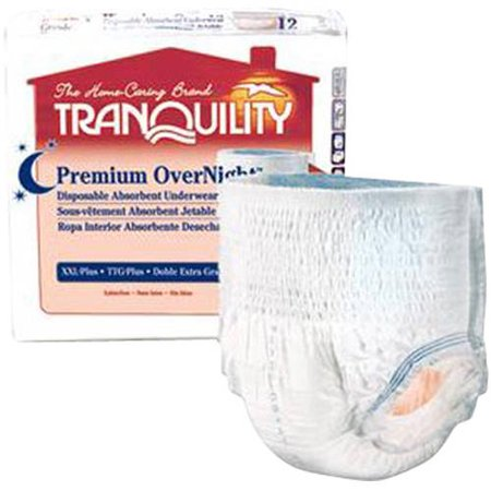 91c76b138eaa Tranquility Premium OverNight Medium Disposable Heavy Absorbency Adult  Absorbent Underwear, 12 count - Walmart.com