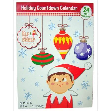 Holiday Advent Calendar Chocolates for Christmas, 24 Chocolate Days til' Christmas, Countdown Chocolate Calendar for Kids, Season Treats, Gift Ideas, Sweet Presents (Elf on The Shelf)](Trunk Treat Ideas)