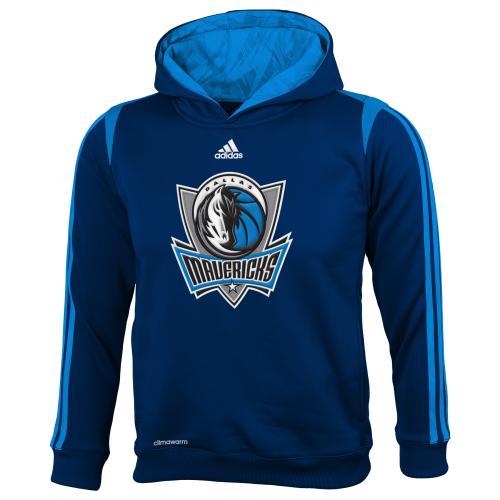 Dallas Mavericks Youth Adidas NBA 2013 On Court Hooded Sweatshirt