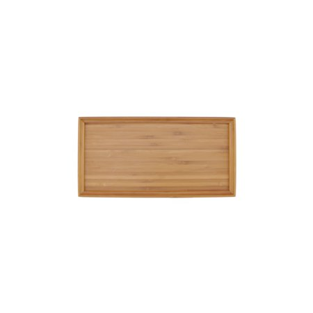 BambooMN Bamboo Wooden Small Organic Tea Serving Tray - 11