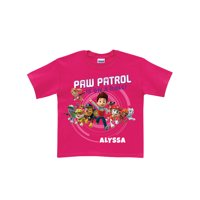Personalized PAW Patrol On a Roll Toddler Girls' T-Shirt, Hot Pink (2T, 3T, 4T, 5/6T)